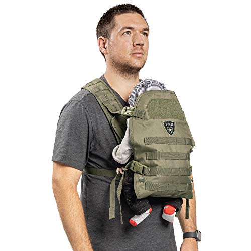 TBG – Mens Tactical Baby Carrier for Infants and Toddlers (Ranger Green)