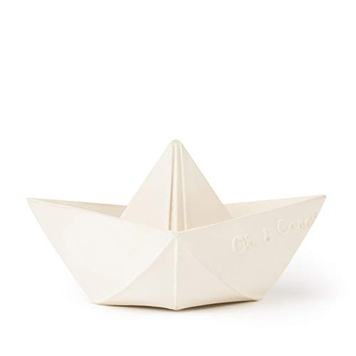 Origami Boat Bath Toy by Oli & Carol – White