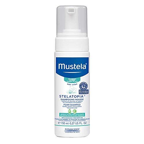 Mustela Stelatopia Foam Shampoo for Extremely Dry to Eczema-Prone Skin