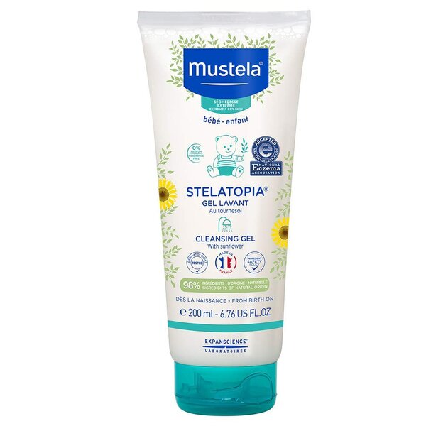 Mustela Stelatopia Baby Cleansing Gel and Wash for Eczema Prone Skin