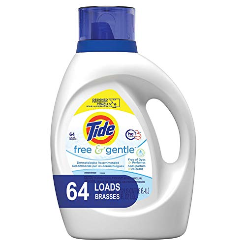 Tide Free and Gentle Unscented and Hypoallergenic for Sensitive Skin Liquid Laundry Detergent