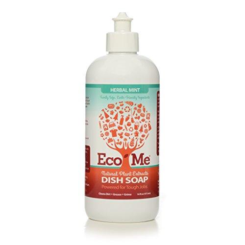 EcoMe Dish Soap Liquid, Herbal Mint