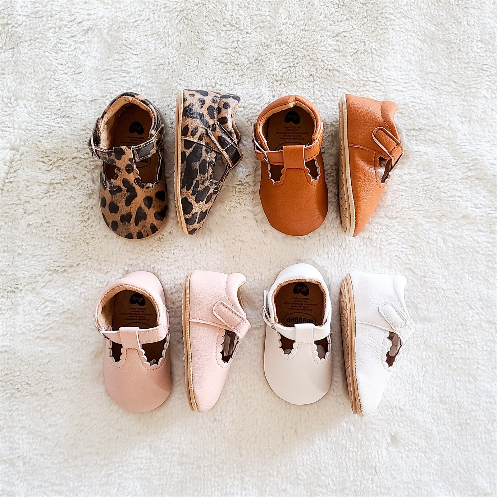 Baby Girl Leather Hard Sole Shoes