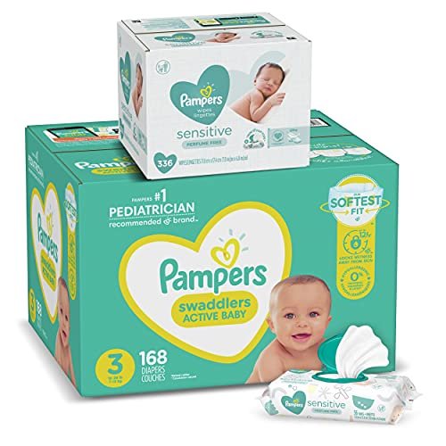 Pampers Swaddlers Diapers 108-Count Box + Pampers 336-Count Wipes Bundle Just $42.59 Shipped! (More Sizes Available)