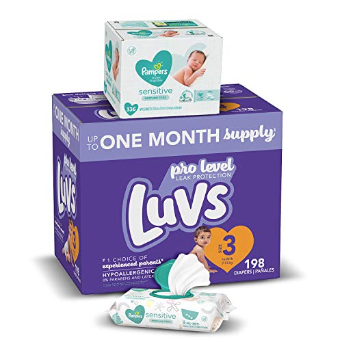 Luvs Diapers 198-Count Box + Pampers 336-Count Wipes Bundle Just $32.18 Shipped! (More Sizes Available)