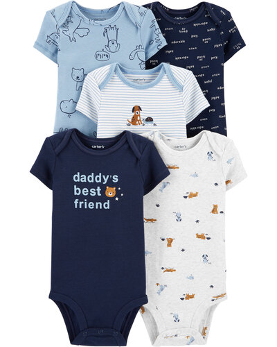 Carter's Baby Bodysuits 5-Pack, Only $8.74 (reg. $28)!
