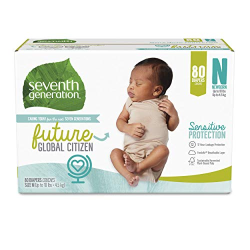Seventh Generation Baby Diapers, Size Newborn, 80 ct, Only $18.79 (reg. $24.99)!