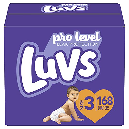 Luvs Triple Leakguards Diapers, Size 3, 168 - Count, Only $24.94 (reg. $39.99)!