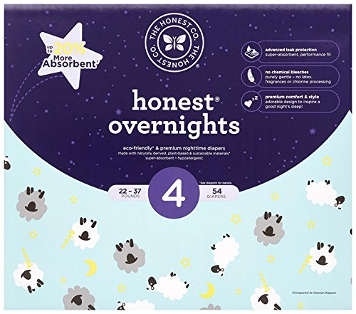 Honest Overnight Baby Diapers, Size 4, 54 ct, As Low As $17.30 (reg. $25.99)!