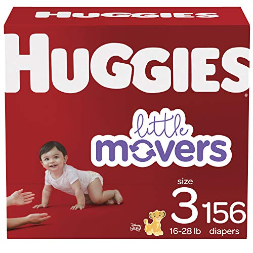 Huggies Little Movers Baby Diapers, Size 3, 156 Count, As Low As $30.11 (reg. $50.44)!