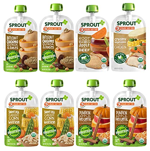 12 Ct. Sprout Organic Baby Food, Stage 3 Pouches, As Low As $14.66 (reg. $27.41)!